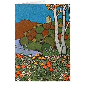 公園の芸術Nouvaeu カード