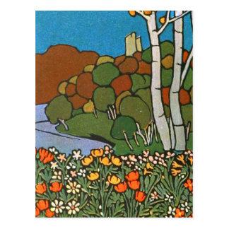 公園の芸術Nouvaeu ポストカード