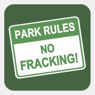 公園の規則- Fracking無し スクエアシール