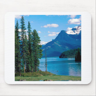 公園のMaligne湖の碧玉アルバータカナダ マウスパッド