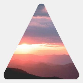公園のShenandoahヴァージニア日曜日の壊れ目 三角形シール