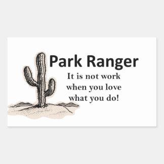 公園管理者 長方形シール