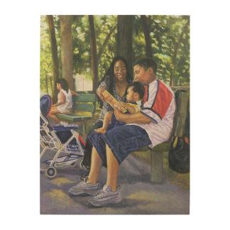 公園1999年の家族 ウッドウォールアート