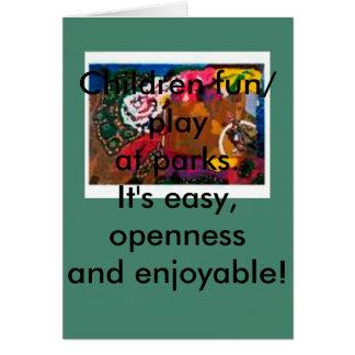 公園、挨拶状、家ペット、郵便料金カードで遊んで下さい カード