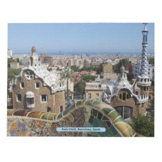 公園Güell、バルセロナ、スペイン ノートパッド