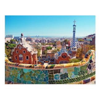 公園Guell、バルセロナ-スペイン ポストカード