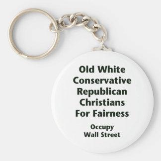公平さのための古い白人の保守的な共和党員 キーホルダー