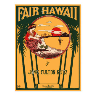 公平なハワイ ポストカード