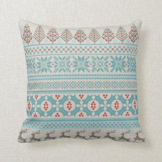 公平な島のニットのセーターの枕 クッション