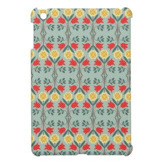 公平な島のfairisleの花の素朴でシックでかわいいパターン iPad mini case