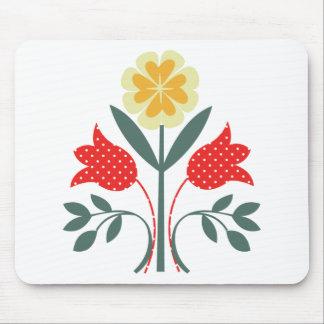 公平な島花パターン民芸のプリント マウスパッド