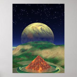 公平な緑の丘陵 ポスター