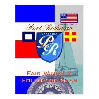 公平な風および続く海港Richman ポストカード