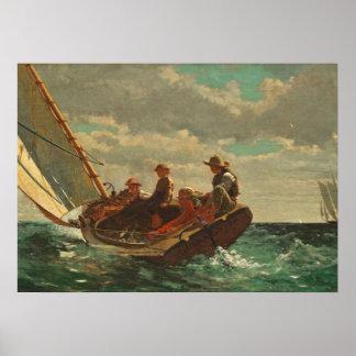(公平な風) 1873-76年の上にそよ吹くこと ポスター
