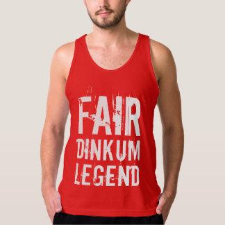 公平なDinkumの伝説のTシャツ タンクトップ