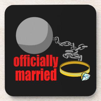 公式に結婚したなコースター 飲み物コースター
