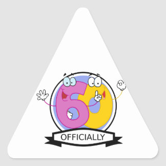 公式に60の誕生日の旗 三角形シール