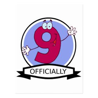 公式に9つの誕生日の旗 ポストカード
