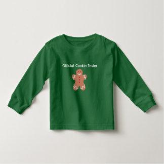 公式のクッキーのテスターの緑はTシャツをからかいます トドラーTシャツ