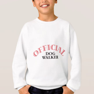 公式のドッグウォーカー-ピンク スウェットシャツ