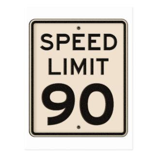 公式のハイウェーの制限速度の印90mph 90 ポストカード