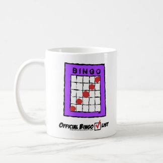 公式のビンゴのチェックリストのマグ! コーヒーマグカップ