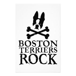 公式のボストンテリアの石Merch 便箋