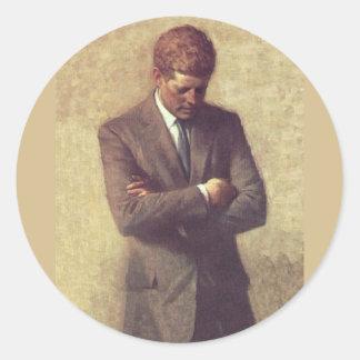 公式のポートレートJohn F Kennedy ラウンドシール