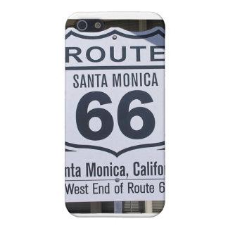 公式のルート66の端の印サンタモニカ iPhone 5 ケース