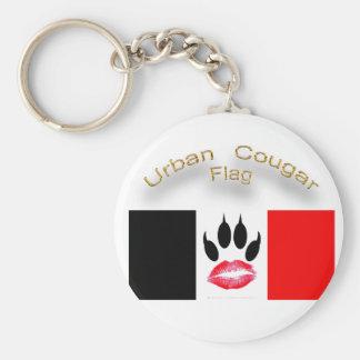 公式の都市クーガーの旗Keychain キーホルダー