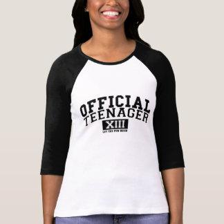 公式の10代の若者はXIIIおもしろいが始まるようにしました Tシャツ