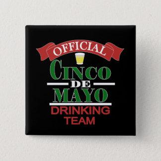 公式のCinco Deメーヨーの飲むチームボタン 5.1cm 正方形バッジ