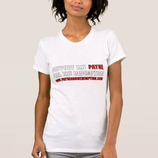 公式のPayne及び買戻しの女性ティー(白い) Tシャツ