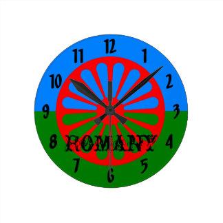 公式のRomanyのジプシーの旗 ラウンド壁時計