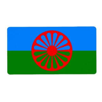 公式のRomanyのジプシーの旗 ラベル