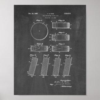 公式NHLのパック1942-1960のパテント-黒板 ポスター