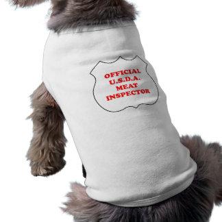 公式U.S.D.A.肉検査官-おもしろい犬のワイシャツ ペット服
