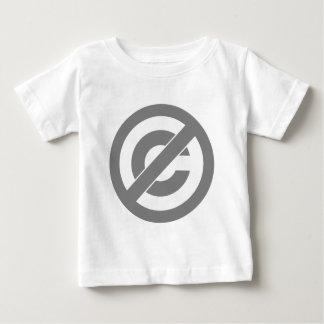 公有地のアンチ版権の記号 ベビーTシャツ