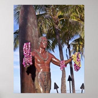 公爵のPaoa Kahinu Mokoe Hulikohola彫像 ポスター