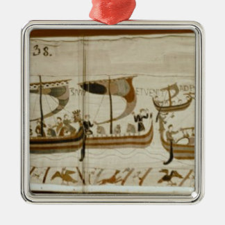 公爵ウィリアムおよび彼の艦隊の十字Pevensey シルバーカラー正方形オーナメント