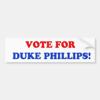 公爵バンパーステッカーのためのフィリップス投票 バンパーステッカー