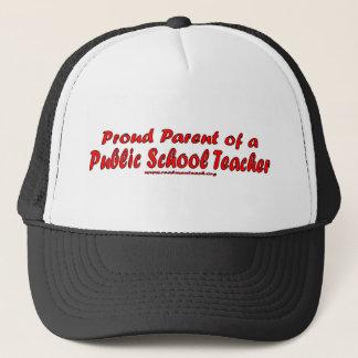 公立学校の先生の誇り高い親 キャップ