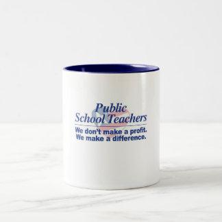 公立学校の先生は相違のマグを作ります ツートーンマグカップ