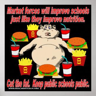 公立学校を公共保って下さい ポスター