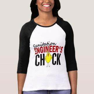 公衆衛生エンジニアのひよこ Tシャツ
