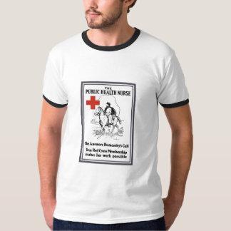 公衆衛生ナース -- 赤十字 Tシャツ