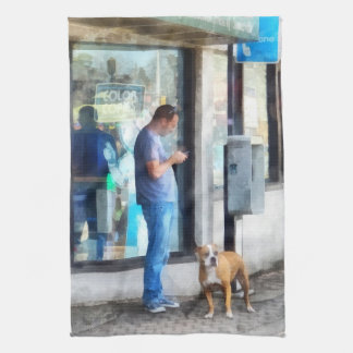 公衆電話 タオル