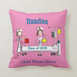 公認看護師の卒業の枕2016ピンク クッション