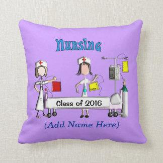 公認看護師の卒業2016の紫色 クッション