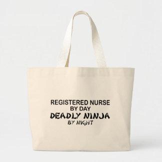 公認看護師の致命的な忍者 ラージトートバッグ